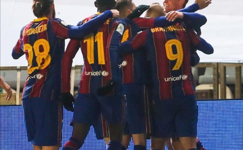 El Barça finalista de la Supercopa deEspaña